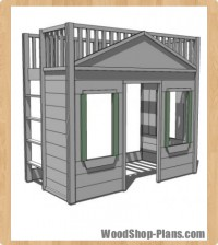 cottage loft bed woodworking plans