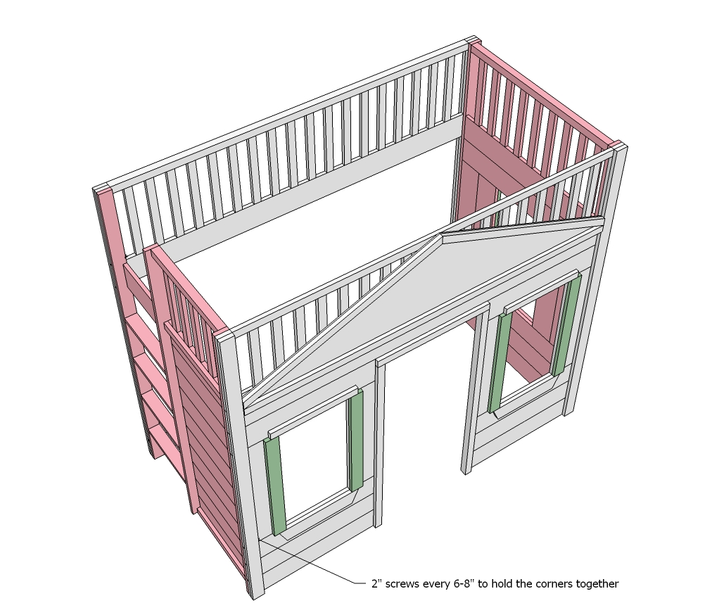 Woodwork Cottage Loft Bed Plans PDF Plans