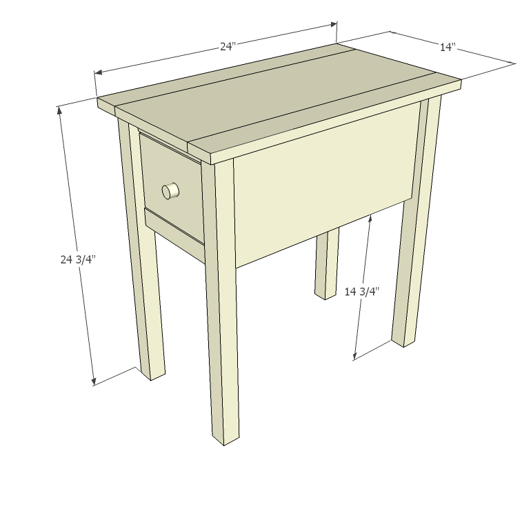 End table woodworking plans woodshop plans for Side table plans