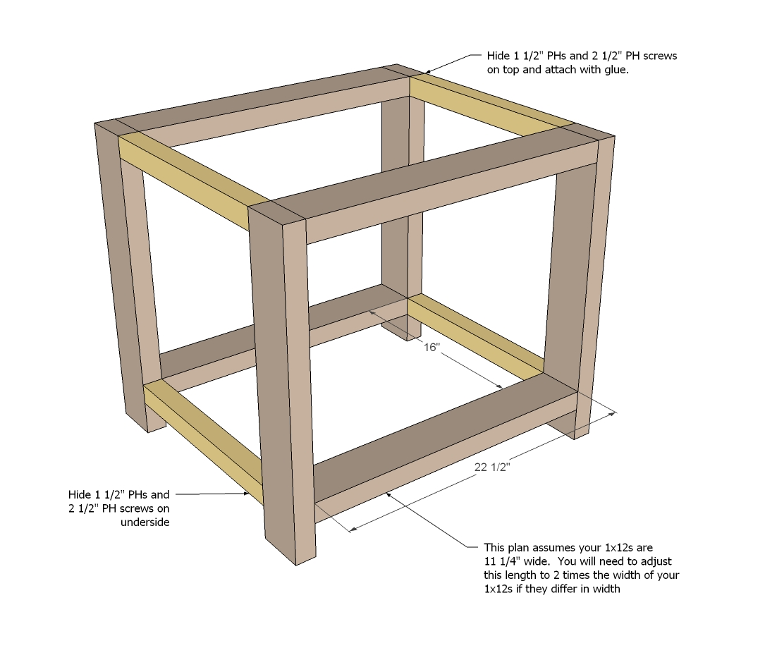 End Table Woodworking Plans 2 Step 1
