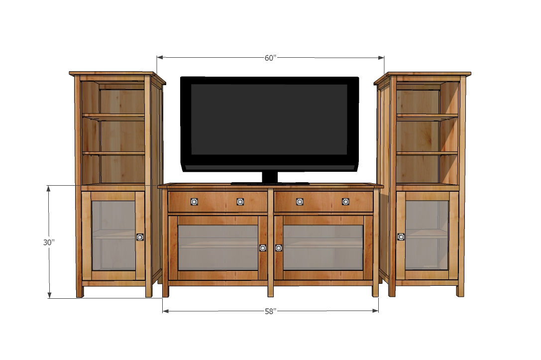 Entertainment center woodworking plans woodshop plans - Media consoles for small spaces plan ...