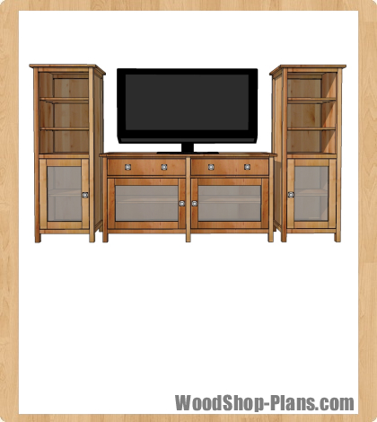 plans entertainment center