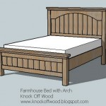 farmhouse bed with arch woodworking plans 2