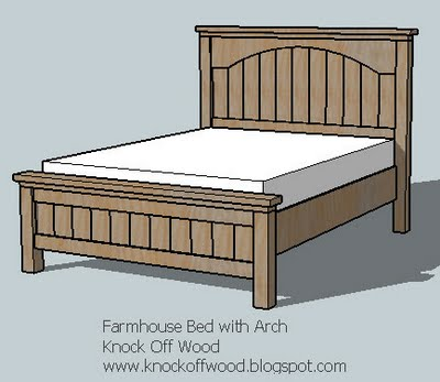 Farmhouse bed with arch woodworking plans woodshop plans for Farmhouse bed plans