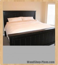 farmhouse bed with arch woodworking plans
