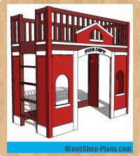 fire station loft bed woodworking plans