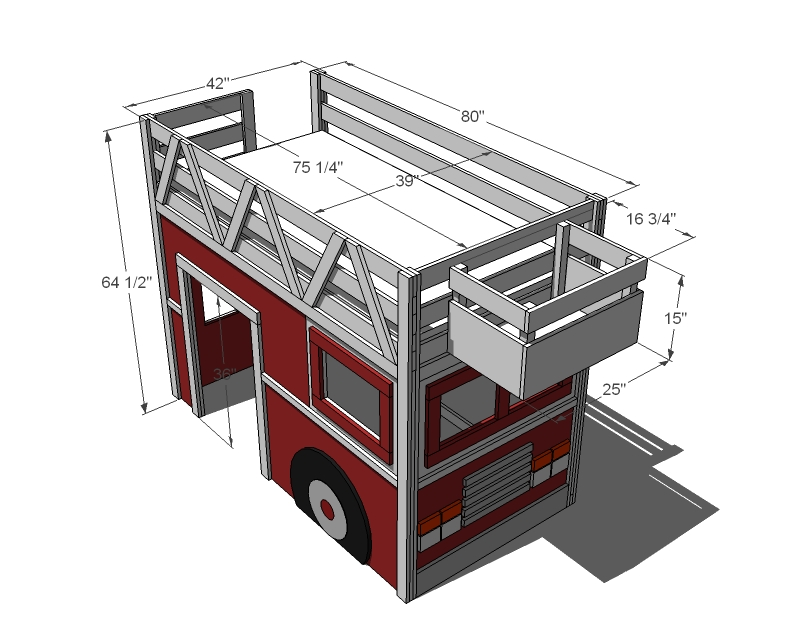 Pics Photos - Fire Truck Loft Bed E1332015317365 Jpg