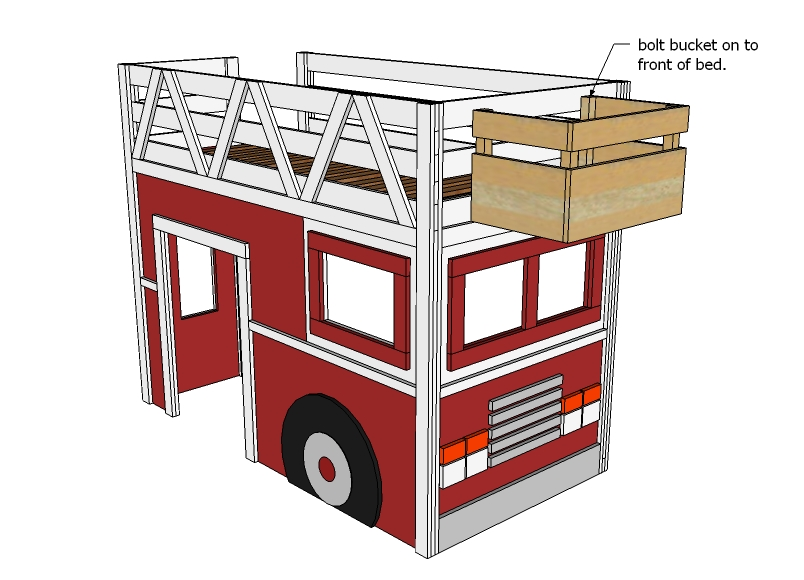 Sure: Wooden fire truck plans Details