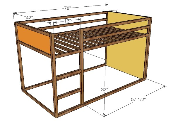 Fort loft bed woodworking plans woodshop plans Loft bed plans