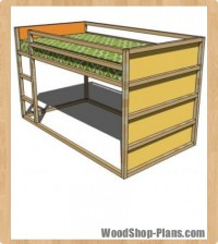 fort loft bed woodworking plans