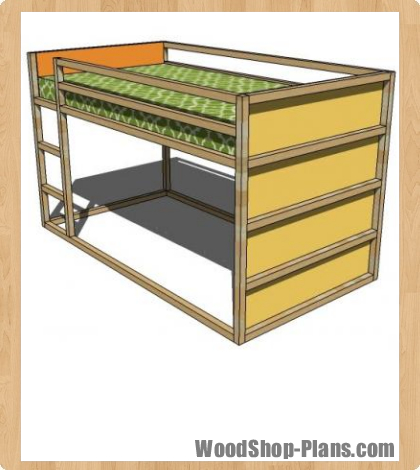 Bunk+Bed+Plans+Woodworking Bunk bed plans These bunk bed plans are ...