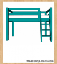 full loft bed woodworking plans