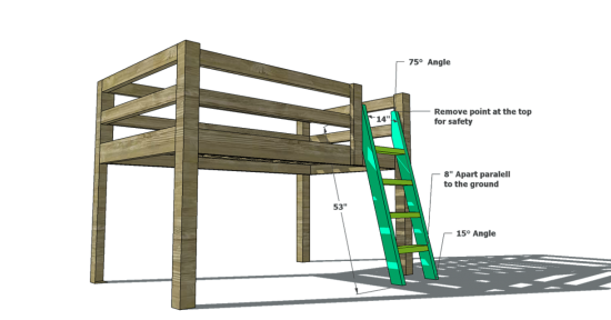full loft bed woodworking plans - WoodShop Plans
