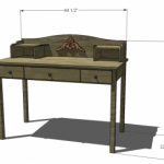 kids desk & hutch woodworking plans 2