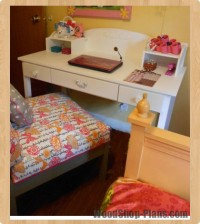 kids desk & hutch woodworking plans
