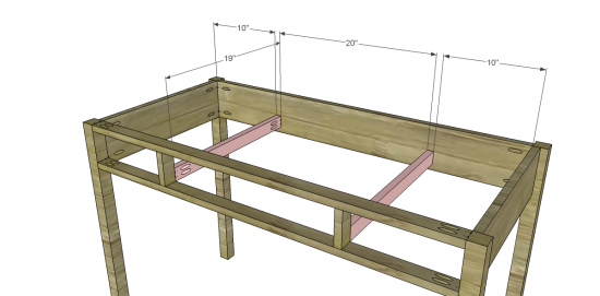 kids desk & hutch woodworking plans step 04
