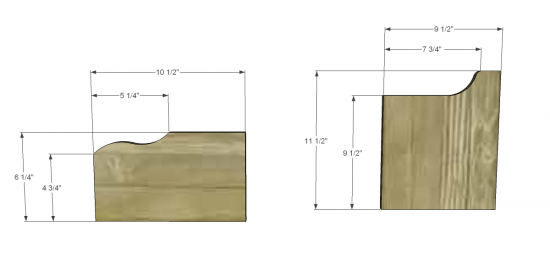 Hutch Woodworking Plans for a Desk 550 x 271