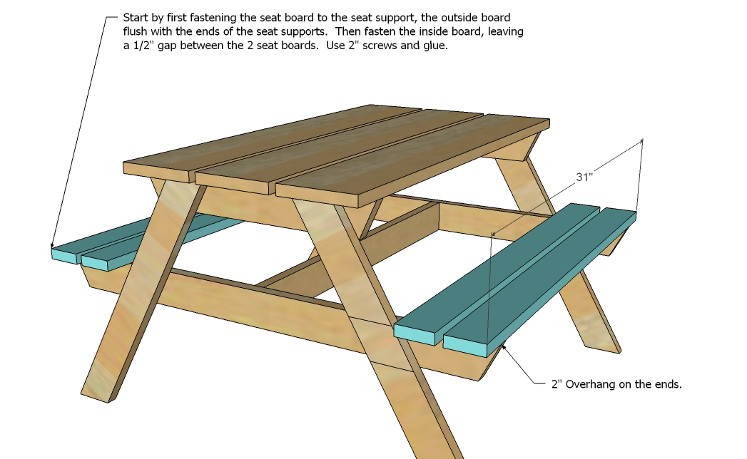 Childrens Picnic Table Free Plans From Creativehomeowner Picnic ...