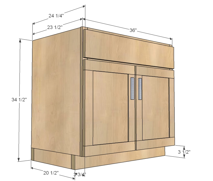 kitchen cabinet sink base woodworking plans - WoodShop Plans