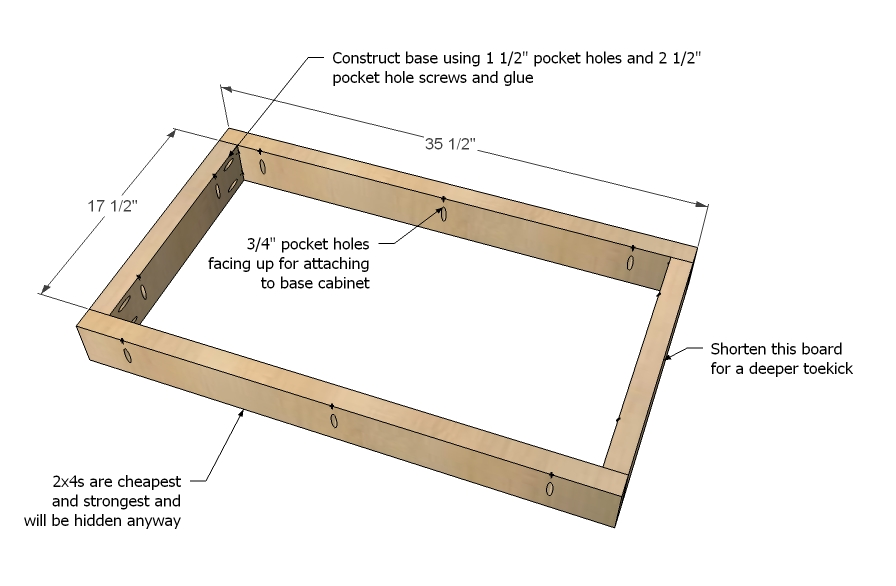 Kitchen Cabinet Sink Base Woodworking Plans Woodshop Plans