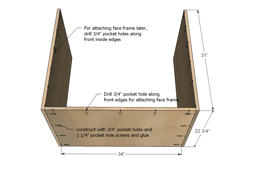 step 2  sc 1 st  WoodShop Plans & kitchen cabinet sink base woodworking plans - WoodShop Plans