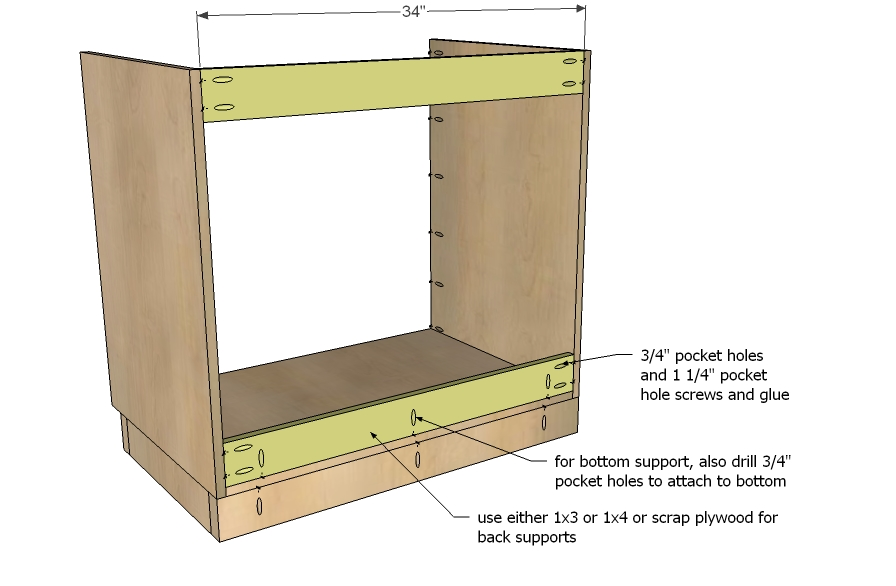 Woodwork Plans For Kitchen Cabinet Base PDF