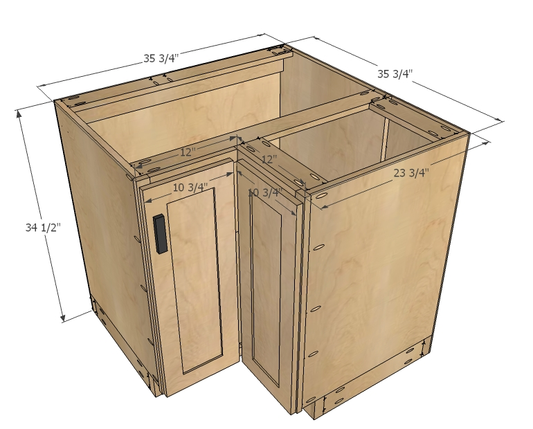 Kitchen Corner Base Cabi  Dimensions on cabinet construction drawings