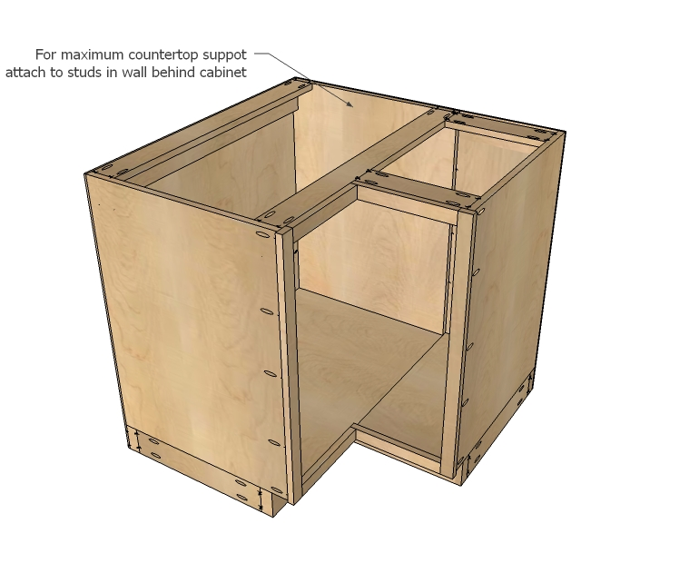 Kitchen Corner Cabinet Woodworking Plans