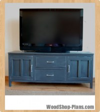media console woodworking plans