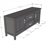 media console woodworking plans 2