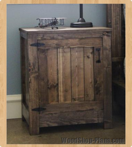 Nightstand woodworking plans woodshop plans for Nightstand plans