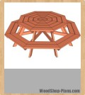 octagon picnic table woodworking plans