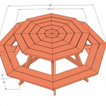 octagon picnic table woodworking plans 2