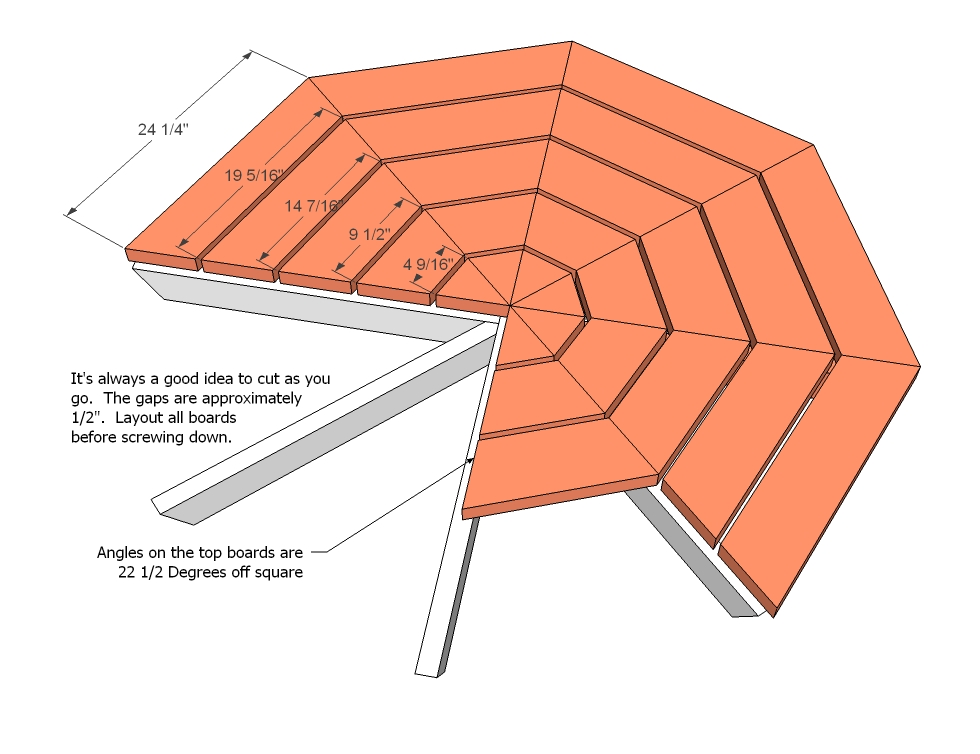 woodworking plans octagon picnic table | woodproject