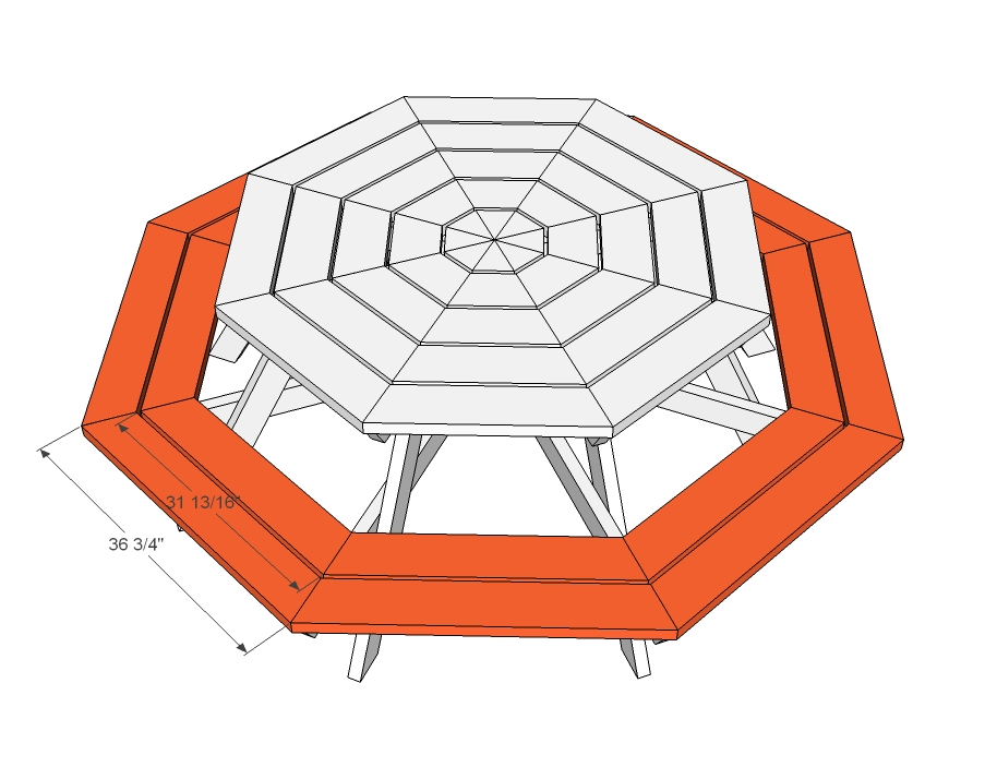 Plans To Build Octagon Picnic Table Pdf Woodworking