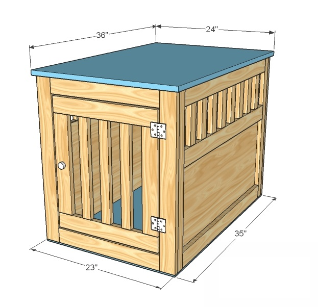 Pet kennel woodworking plans woodshop plans for Box table design
