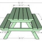 picnic table woodworking plans 2