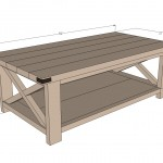 rustic coffee table woodworking plans 2
