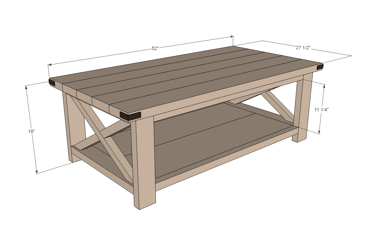 Rustic Coffee Table Woodworking Plans WoodShop