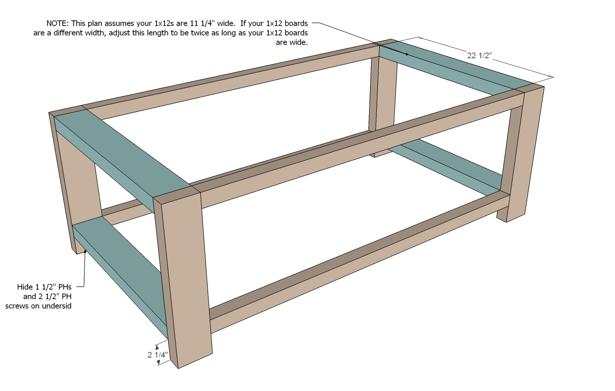 coffee table diy instructions woodworktips