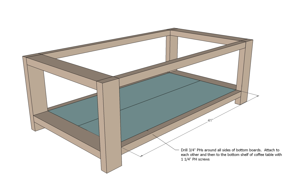 Plans for a rustic coffee table furnitureplans for Table design plans