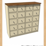 apothecary console table woodworking plans