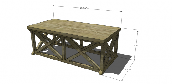 coffee table woodworking plans window
