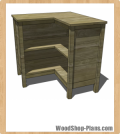 corner bookcase woodworking plans