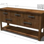 dresser with open shelves woodworking plans 2
