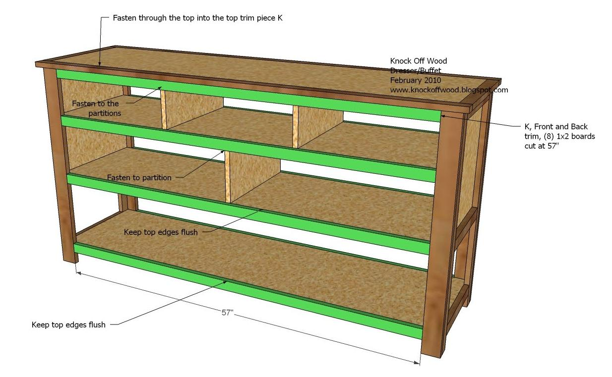 Dresser With Open Shelves Woodworking Plans