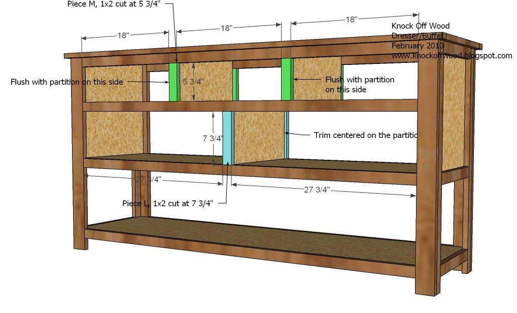 Dresser with open shelves woodworking plans woodshop plans for Wood craft shelves