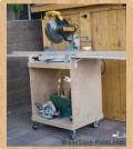 miter saw cart woodworking plans