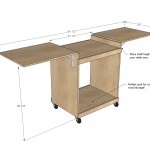 miter saw cart woodworking plans 2