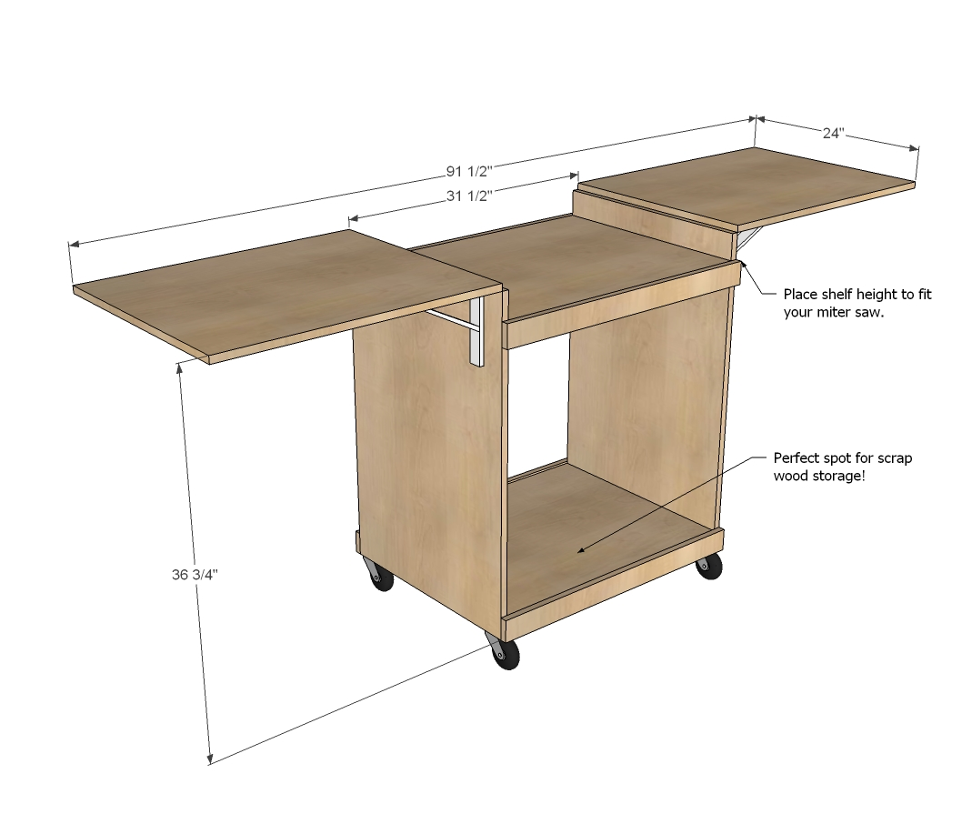 Miter Saw Cart Woodworking Plans WoodShop